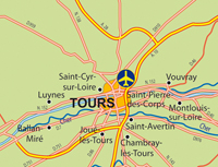 Carte aéroport Tours